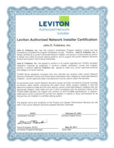 Leviton-Certification-Thumbnail